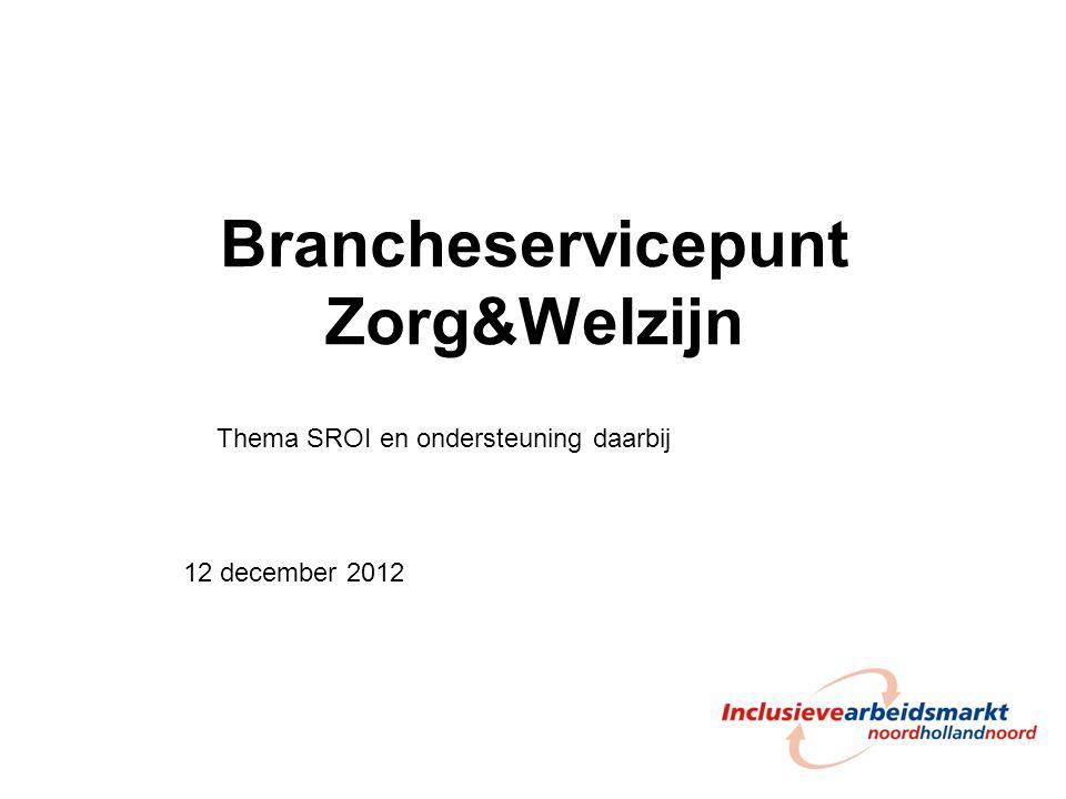 Brancheservicepunt Zorg&Welzijn