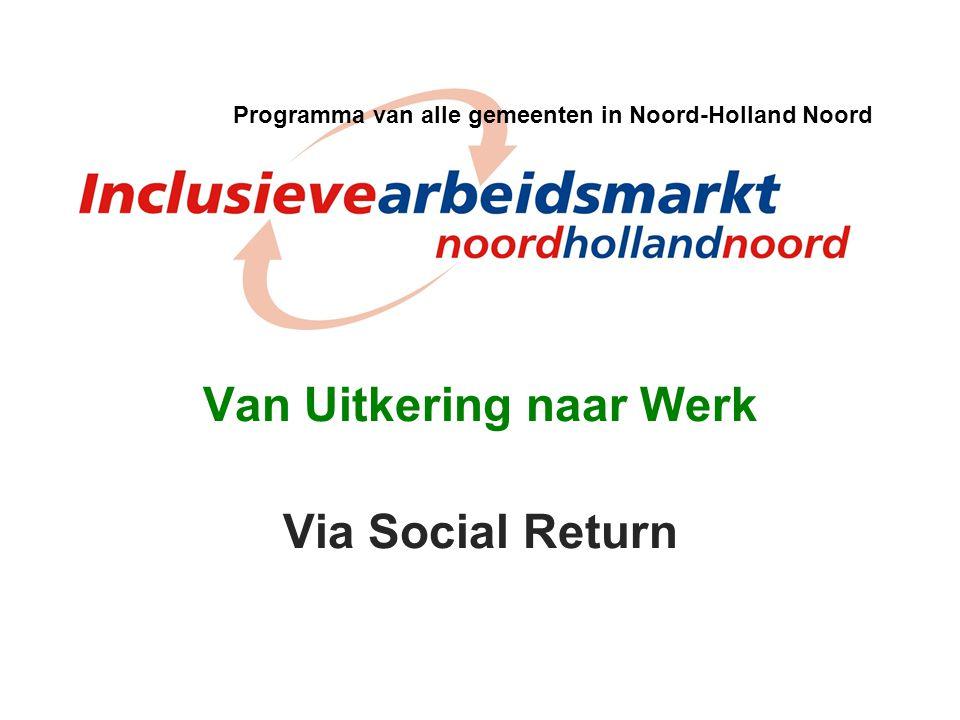 Van Uitkering naar Werk Via Social Return