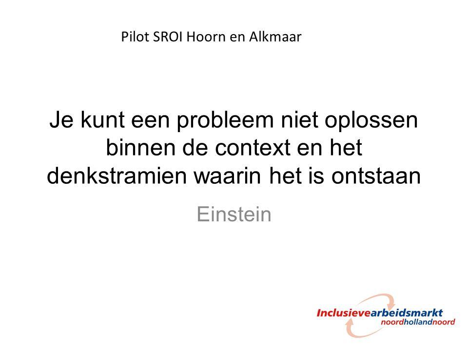 Pilot SROI Hoorn en Alkmaar