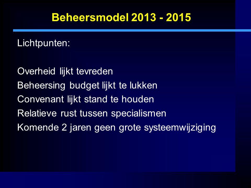 Beheersmodel 2013 - 2015 Lichtpunten: Overheid lijkt tevreden