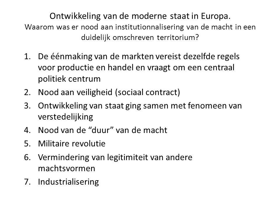 Ontwikkeling van de moderne staat in Europa