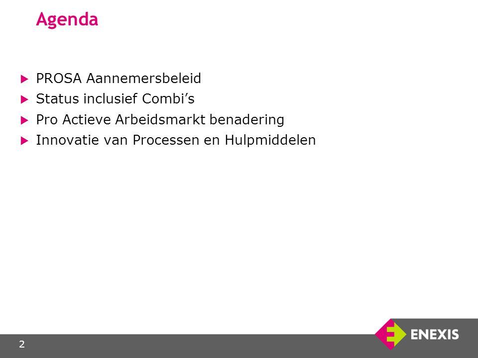 Agenda PROSA Aannemersbeleid Status inclusief Combi's