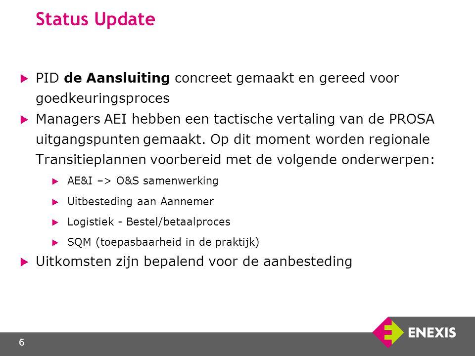 Status Update PID de Aansluiting concreet gemaakt en gereed voor goedkeuringsproces.