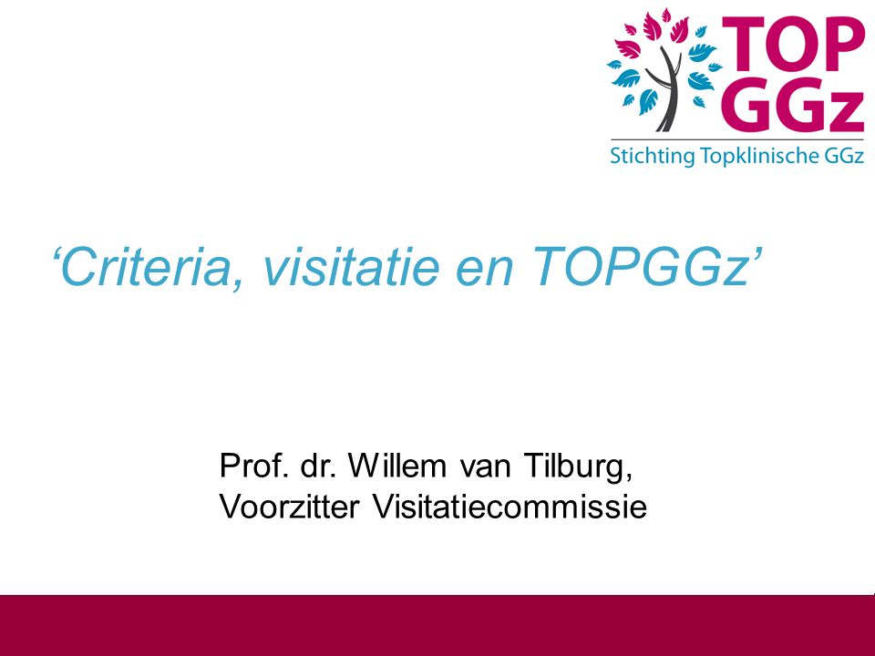 'Criteria, visitatie en TOPGGz'
