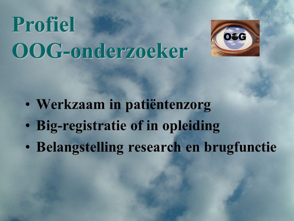 Profiel OOG-onderzoeker Werkzaam in patiëntenzorg