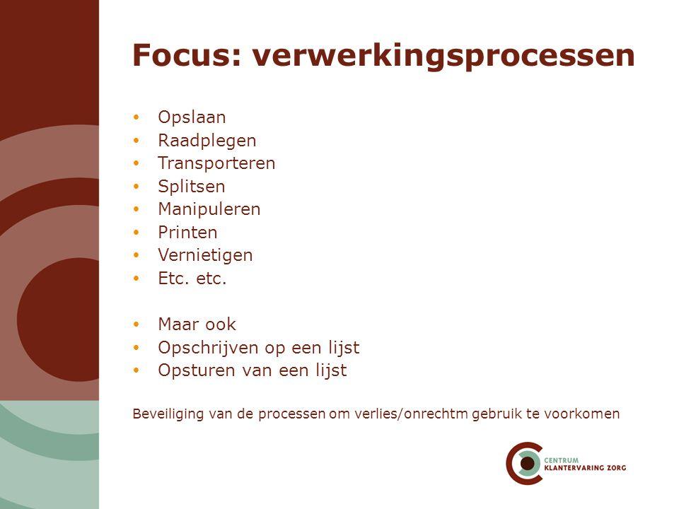Focus: verwerkingsprocessen