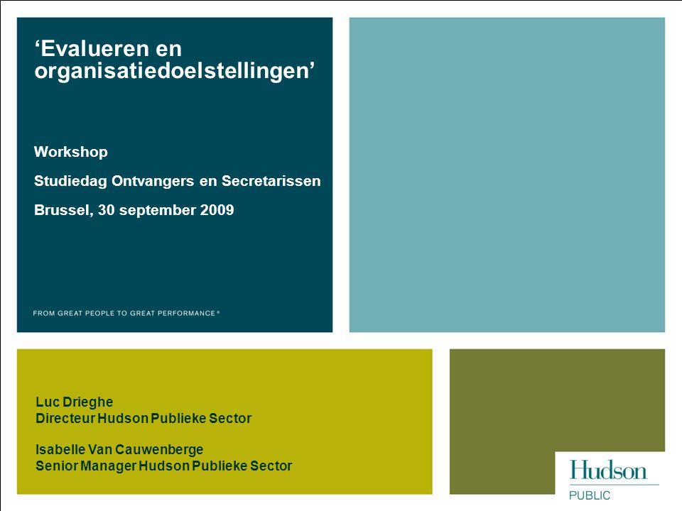 'Evalueren en organisatiedoelstellingen'