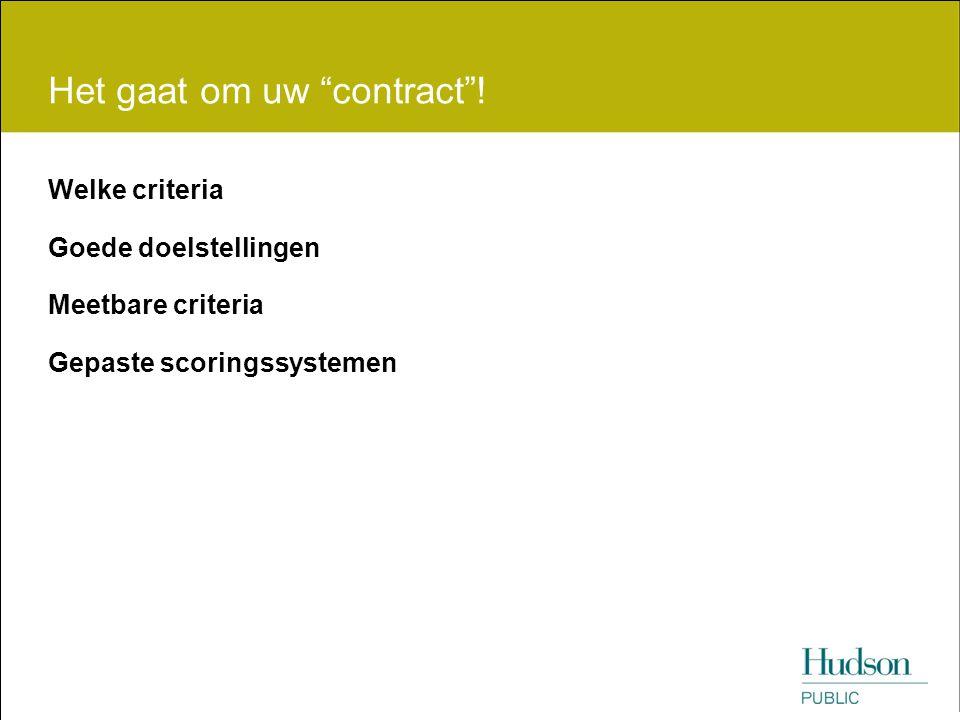 Het gaat om uw contract !