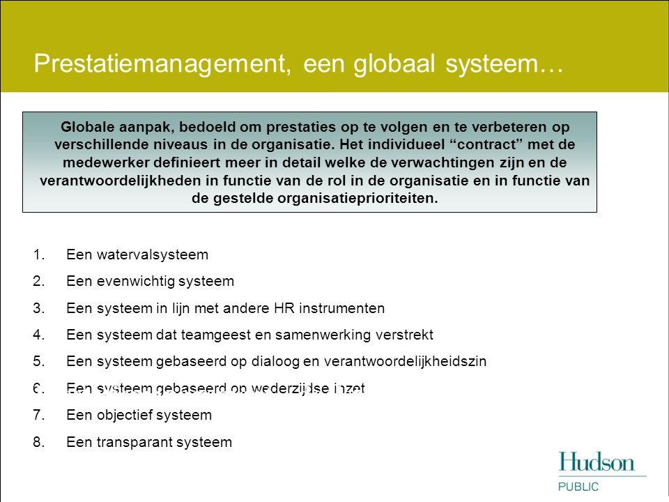 Prestatiemanagement, een globaal systeem…