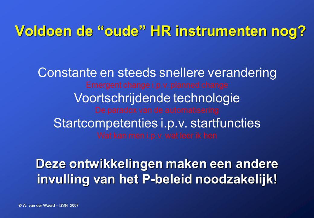 Voldoen de oude HR instrumenten nog