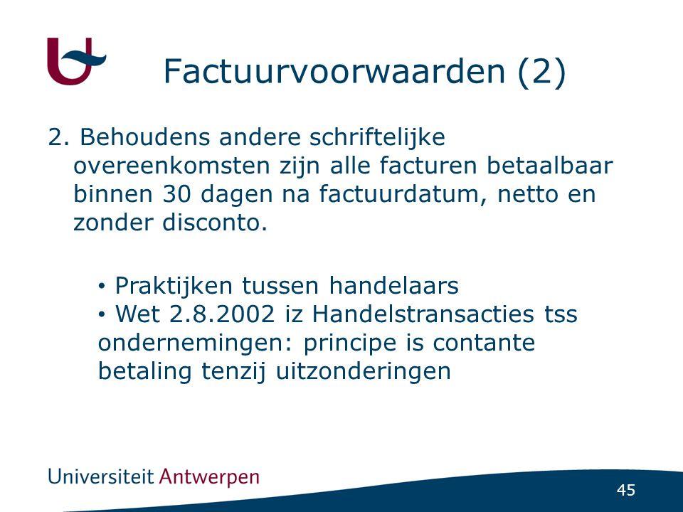 Factuurvoorwaarden (2)