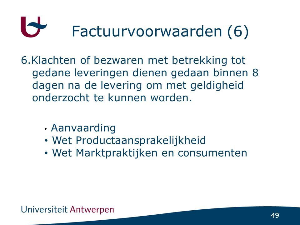 Factuurvoorwaarden (6)