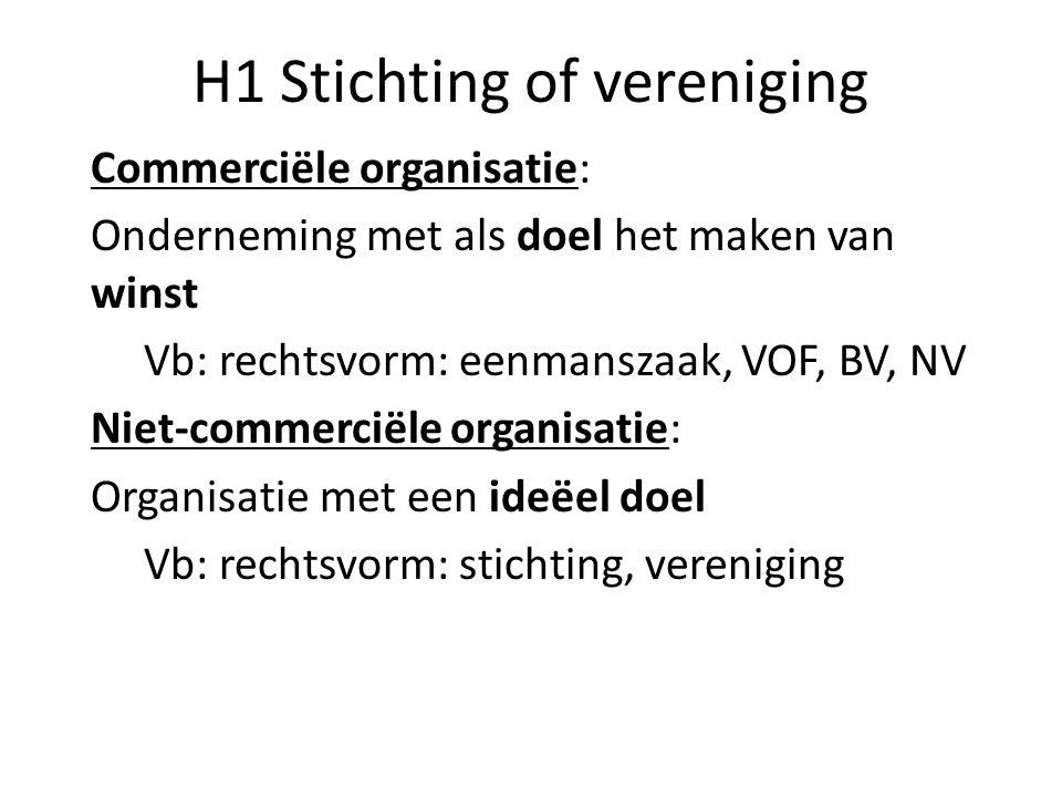 H1 Stichting of vereniging
