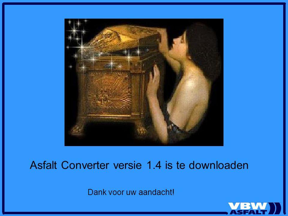 Asfalt Converter versie 1.4 is te downloaden