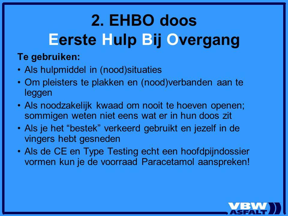2. EHBO doos Eerste Hulp Bij Overgang