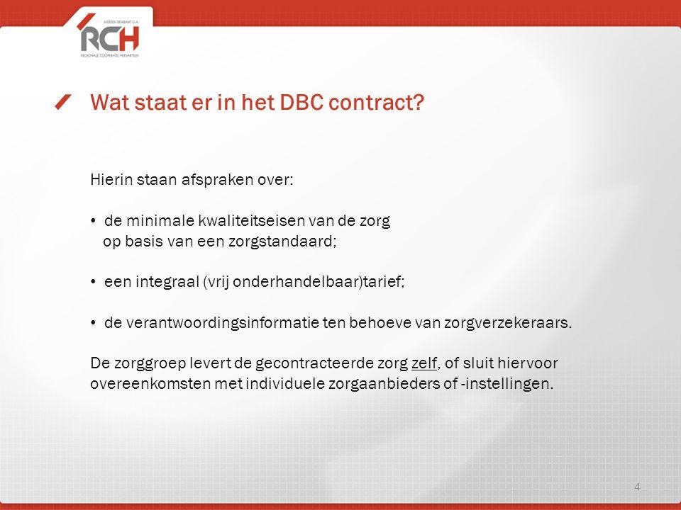 Wat staat er in het DBC contract