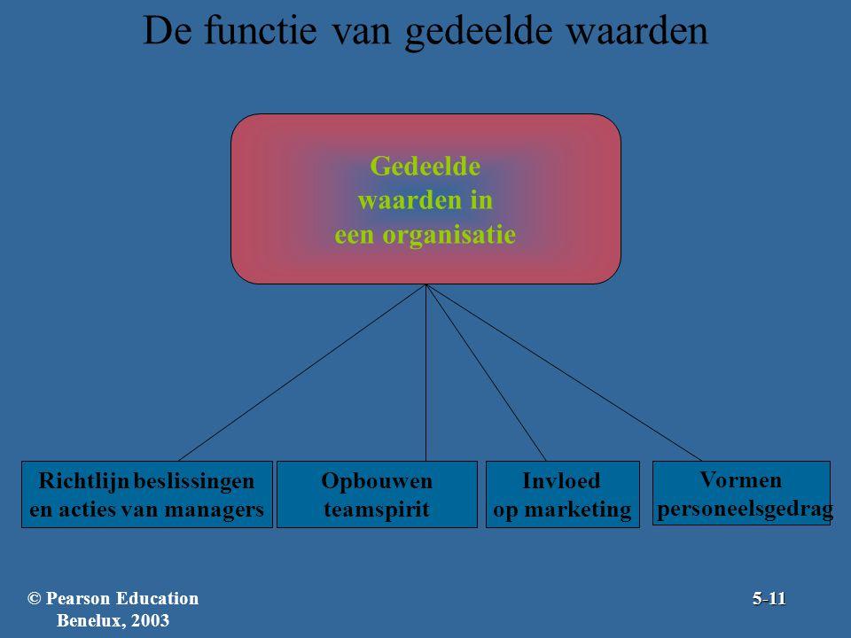 De functie van gedeelde waarden