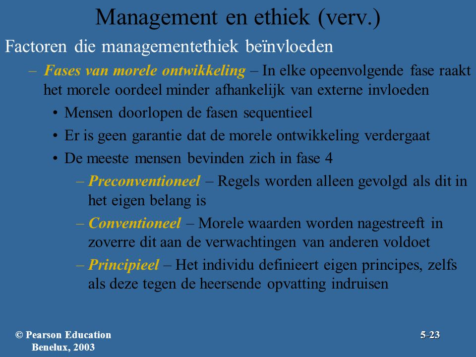Management en ethiek (verv.)