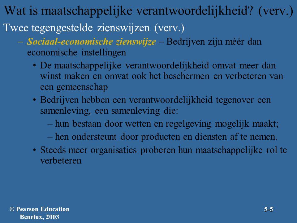 Wat is maatschappelijke verantwoordelijkheid (verv.)