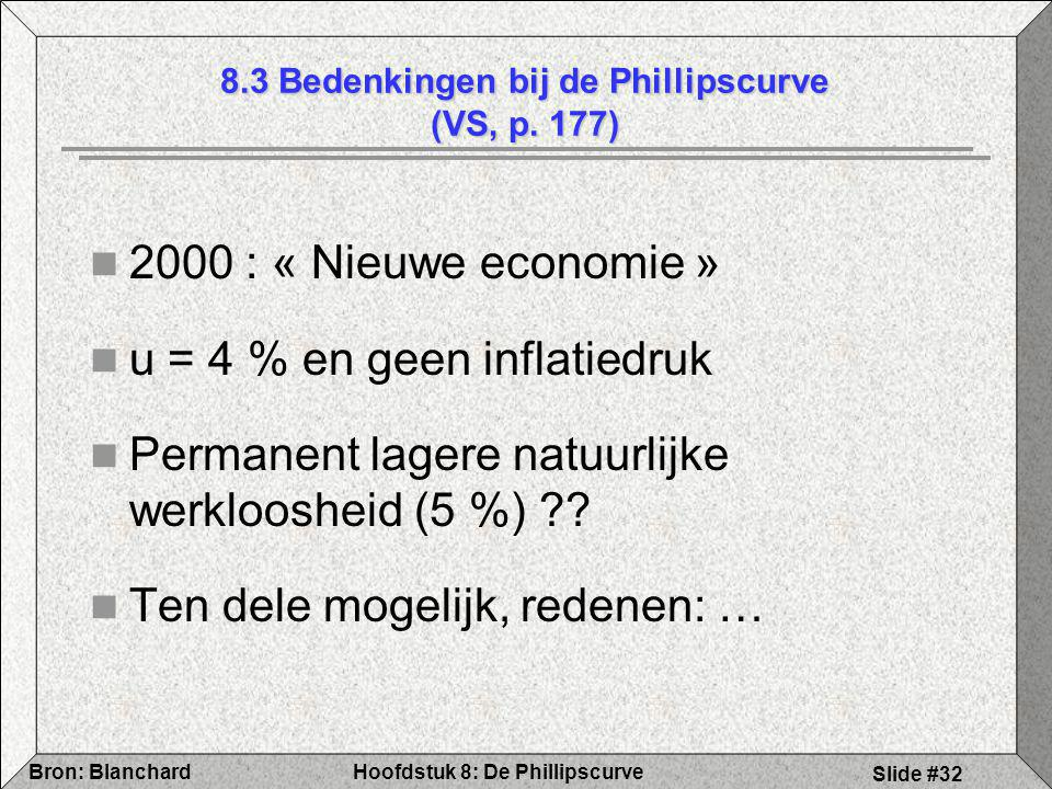 8.3 Bedenkingen bij de Phillipscurve (VS, p. 177)