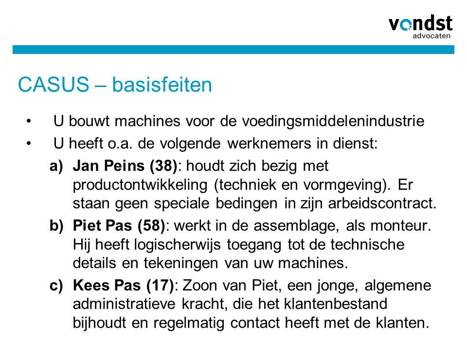 CASUS – basisfeiten U bouwt machines voor de voedingsmiddelenindustrie