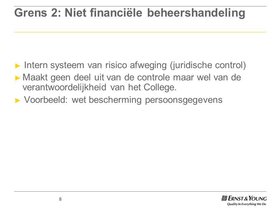 Grens 2: Niet financiële beheershandeling