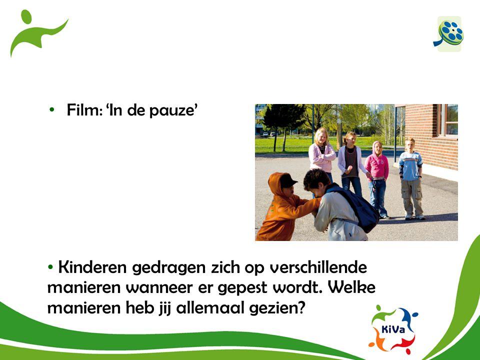 Film: 'In de pauze' Kinderen gedragen zich op verschillende manieren wanneer er gepest wordt.