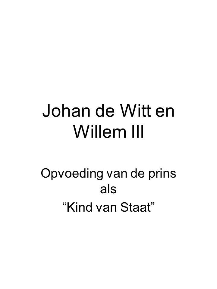 Johan de Witt en Willem III