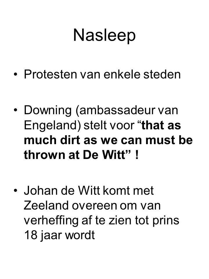 Nasleep Protesten van enkele steden