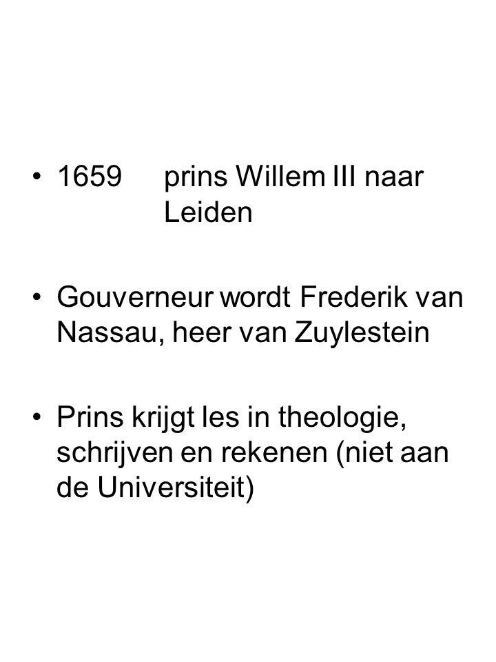 1659 prins Willem III naar Leiden