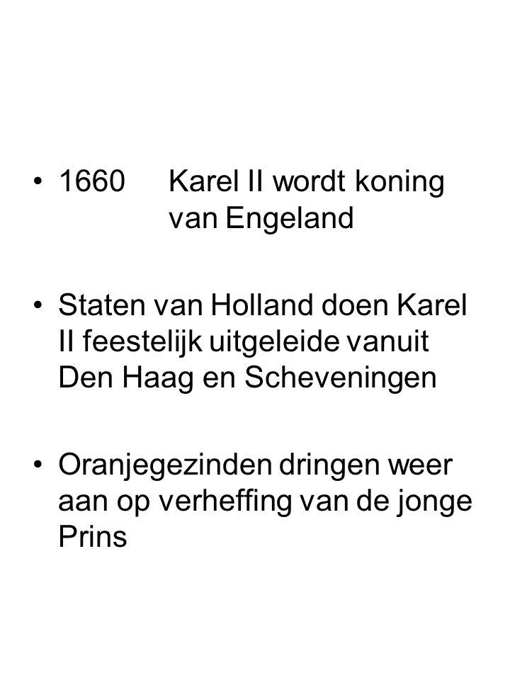 1660 Karel II wordt koning van Engeland