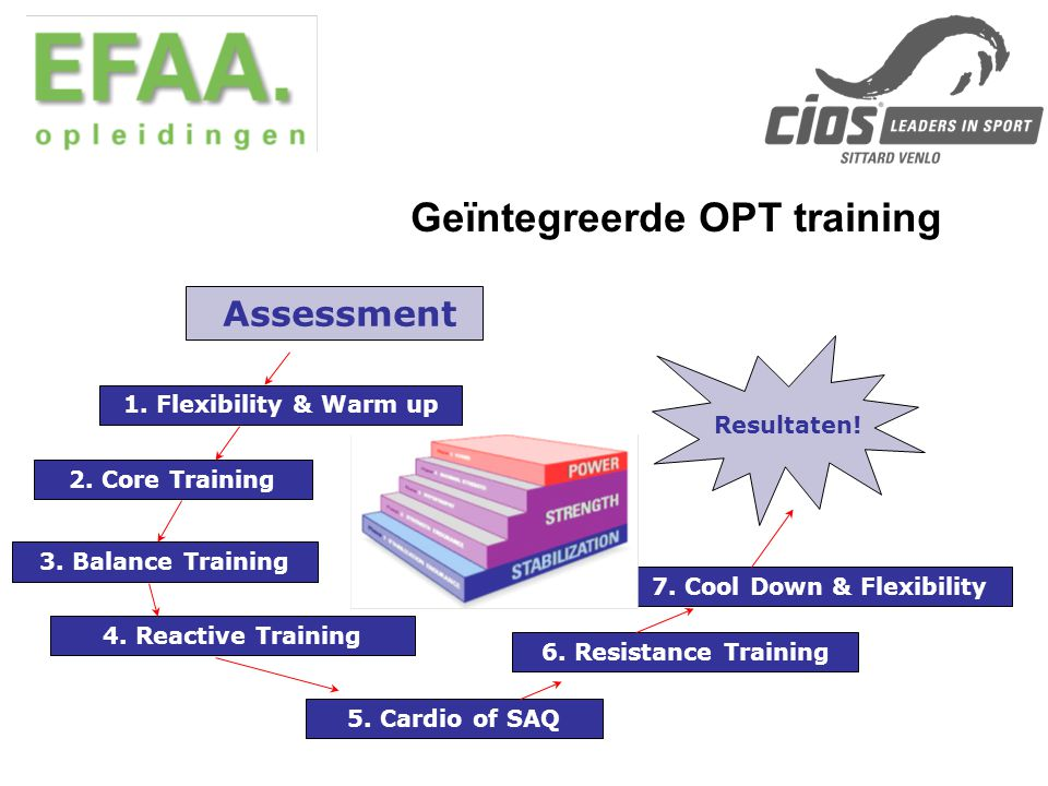 Geïntegreerde OPT training 7. Cool Down & Flexibility