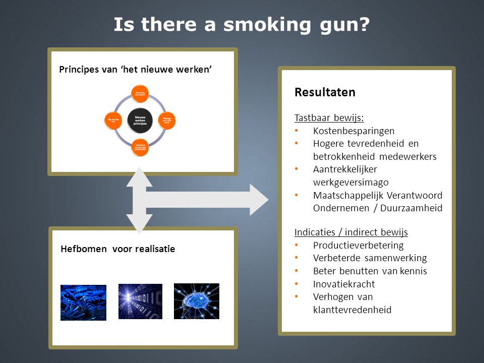 Is there a smoking gun Principes van 'het nieuwe werken' Resultaten