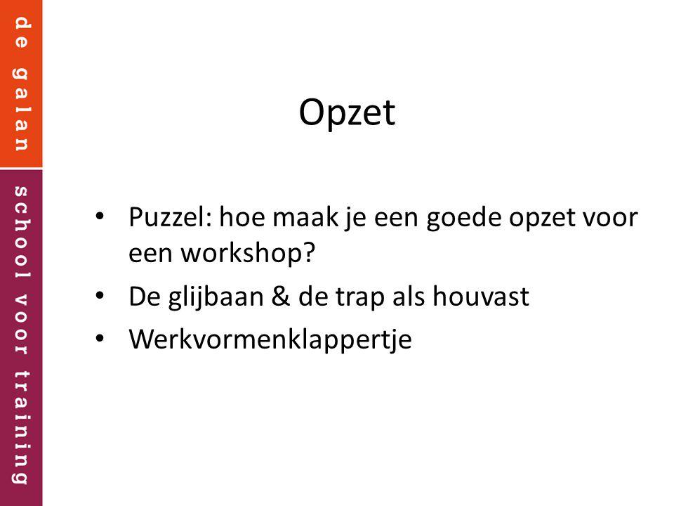 Opzet Puzzel: hoe maak je een goede opzet voor een workshop
