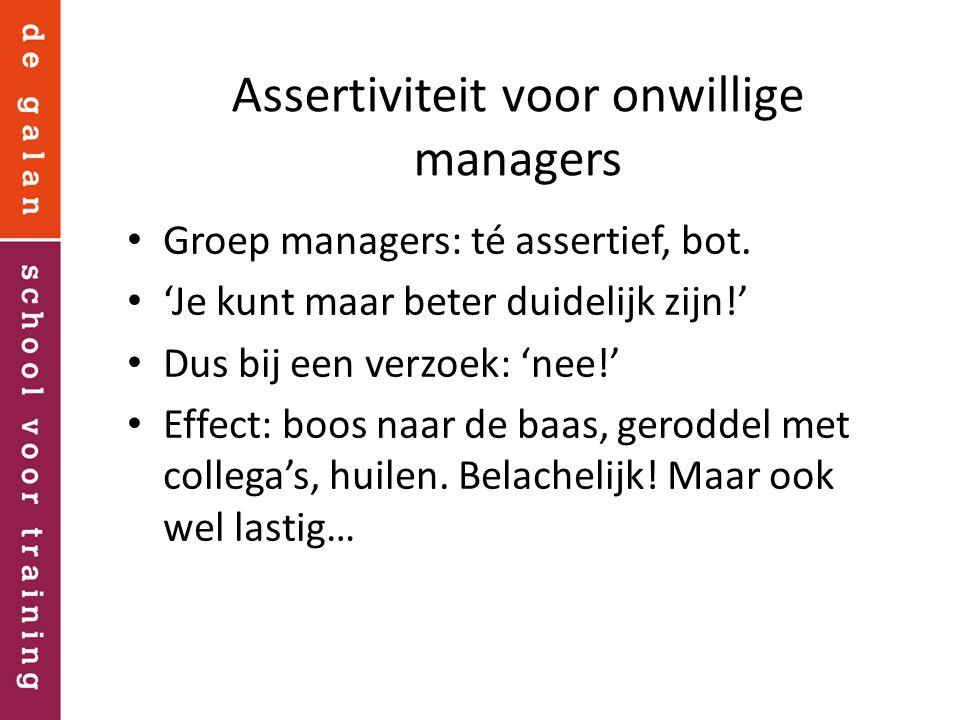 Assertiviteit voor onwillige managers