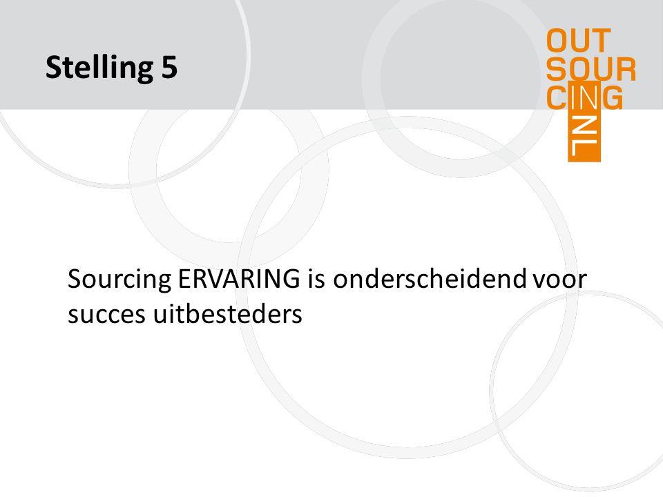 Stelling 5 Sourcing ERVARING is onderscheidend voor