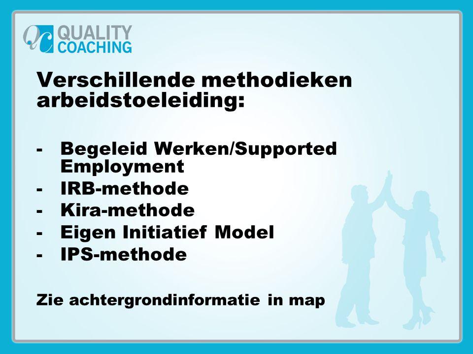 Verschillende methodieken arbeidstoeleiding: