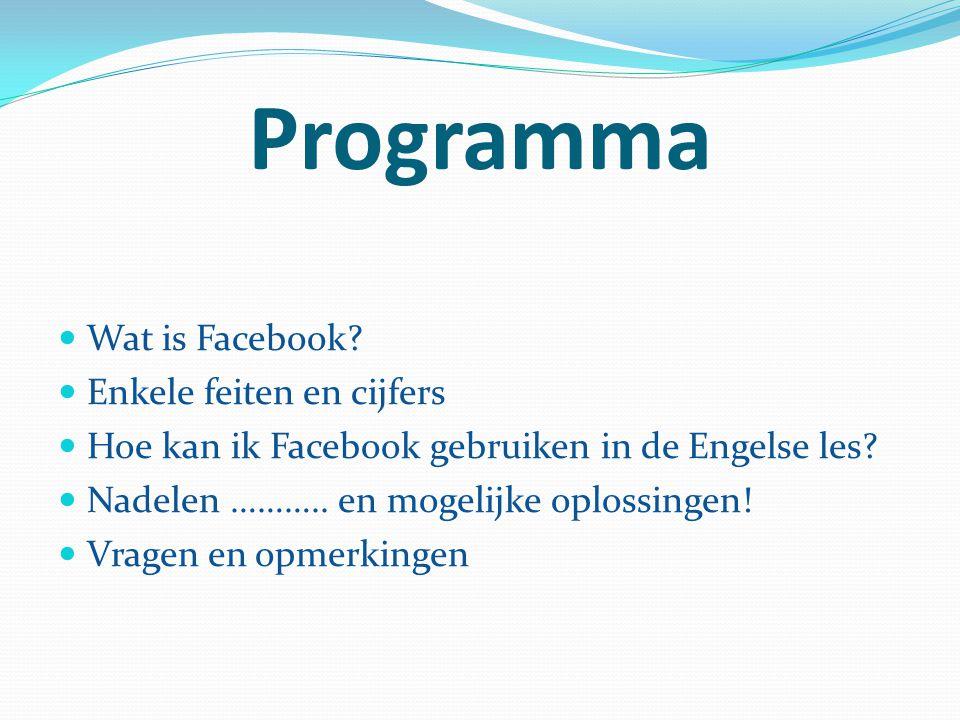 Programma Wat is Facebook Enkele feiten en cijfers
