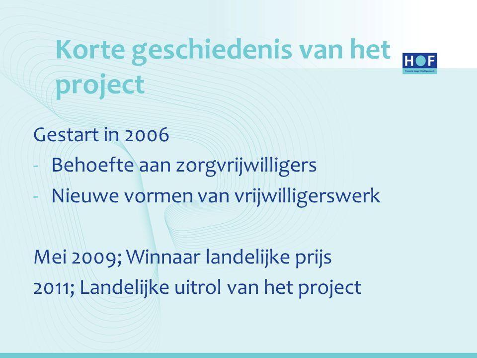 Korte geschiedenis van het project