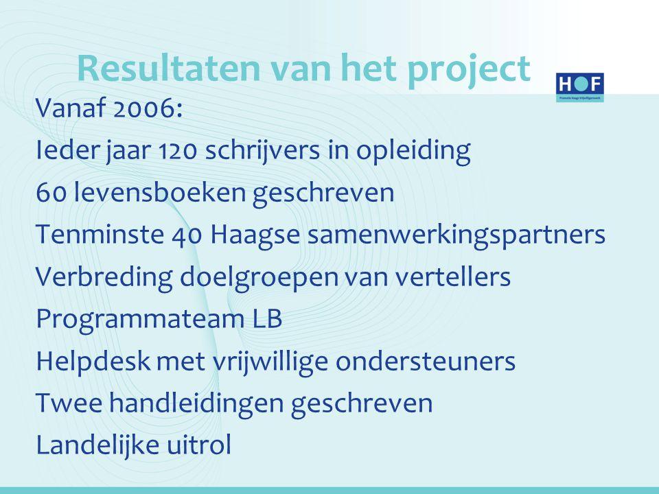 Resultaten van het project