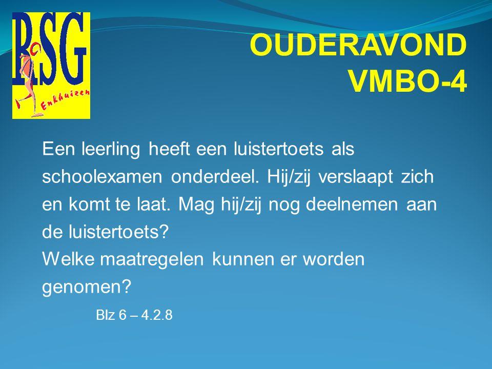 OUDERAVOND VMBO-4