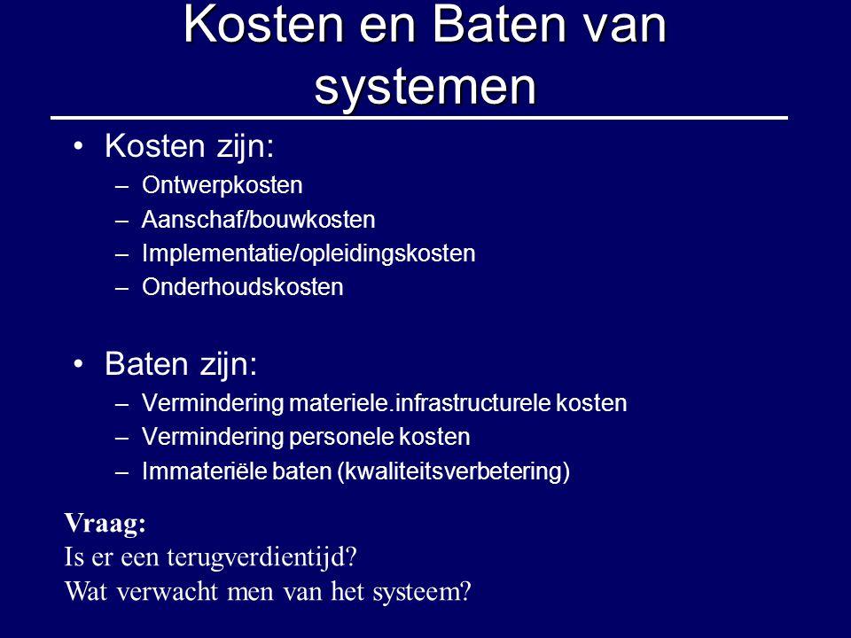 Kosten en Baten van systemen