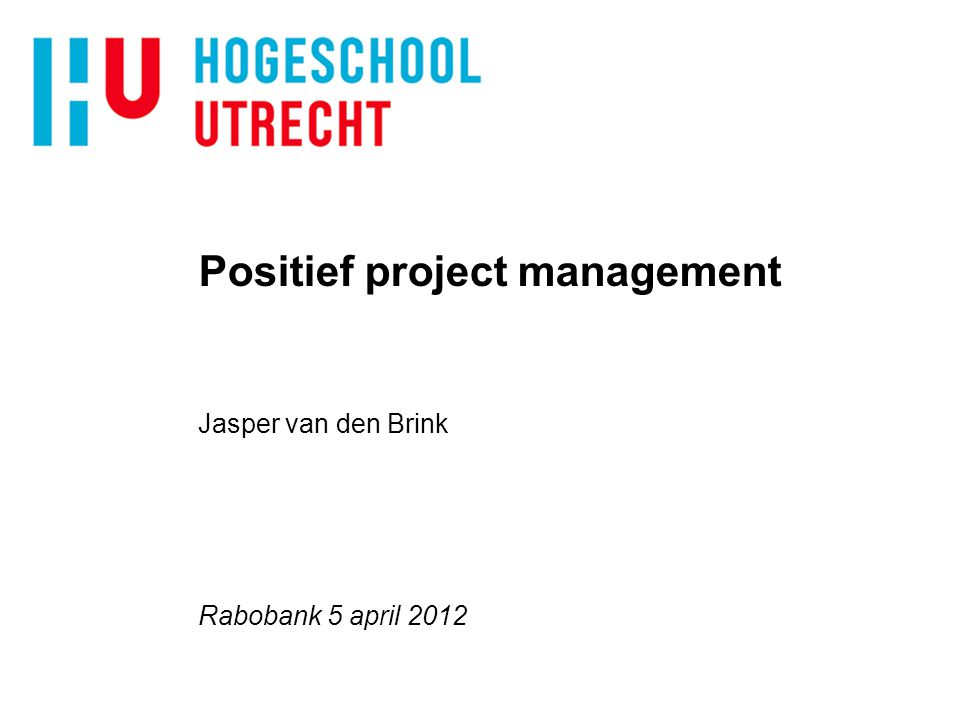 Positief project management