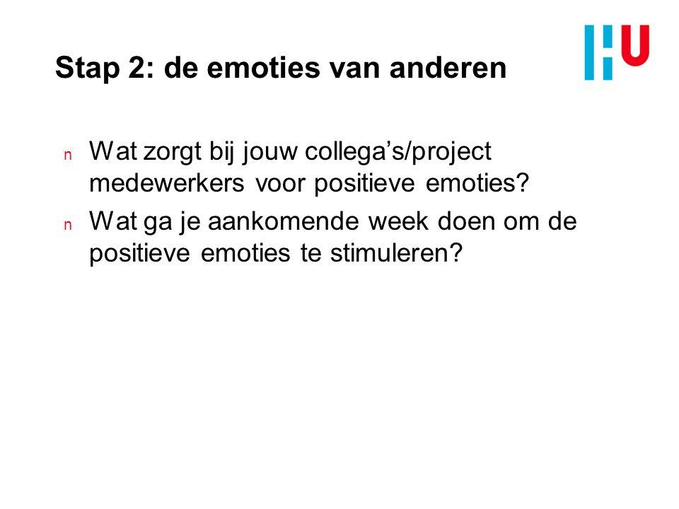 Stap 2: de emoties van anderen