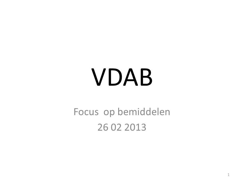 VDAB Focus op bemiddelen 26 02 2013