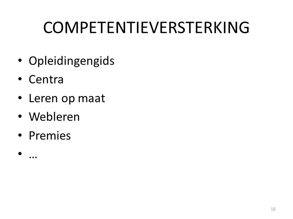 COMPETENTIEVERSTERKING