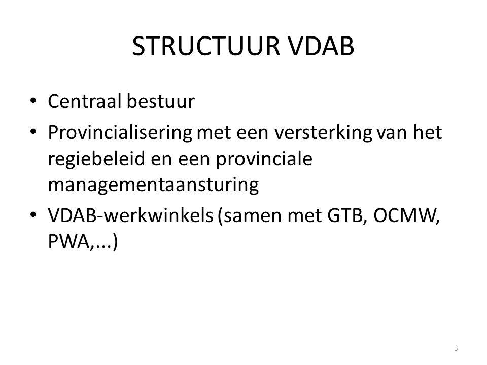 STRUCTUUR VDAB Centraal bestuur