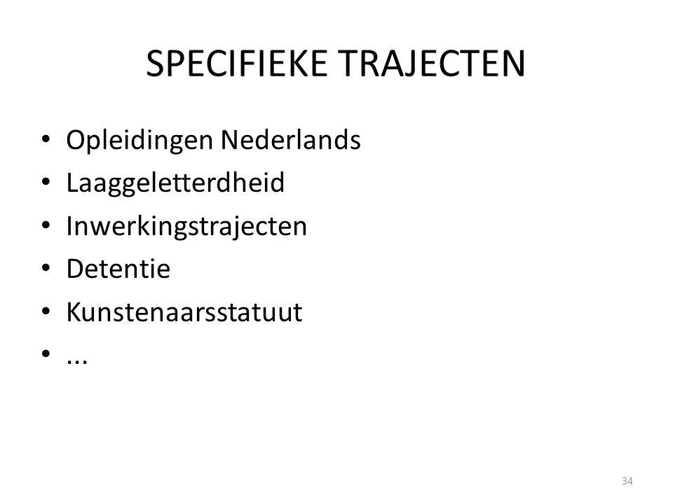 SPECIFIEKE TRAJECTEN Opleidingen Nederlands Laaggeletterdheid