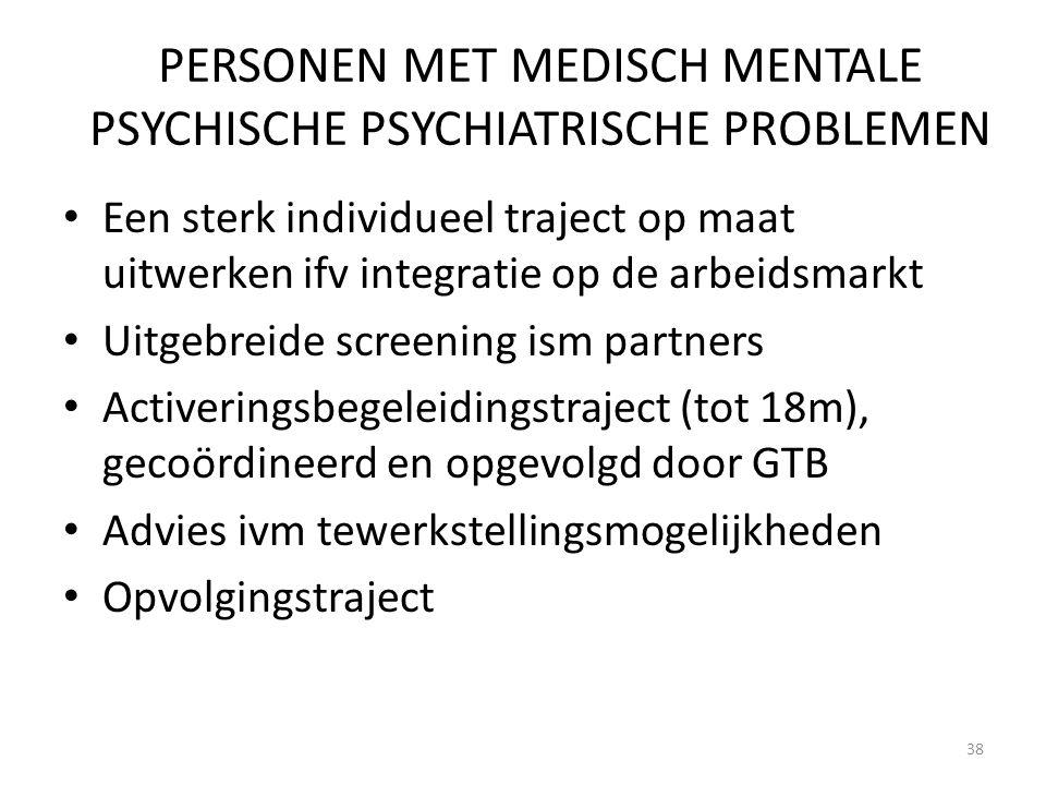 PERSONEN MET MEDISCH MENTALE PSYCHISCHE PSYCHIATRISCHE PROBLEMEN