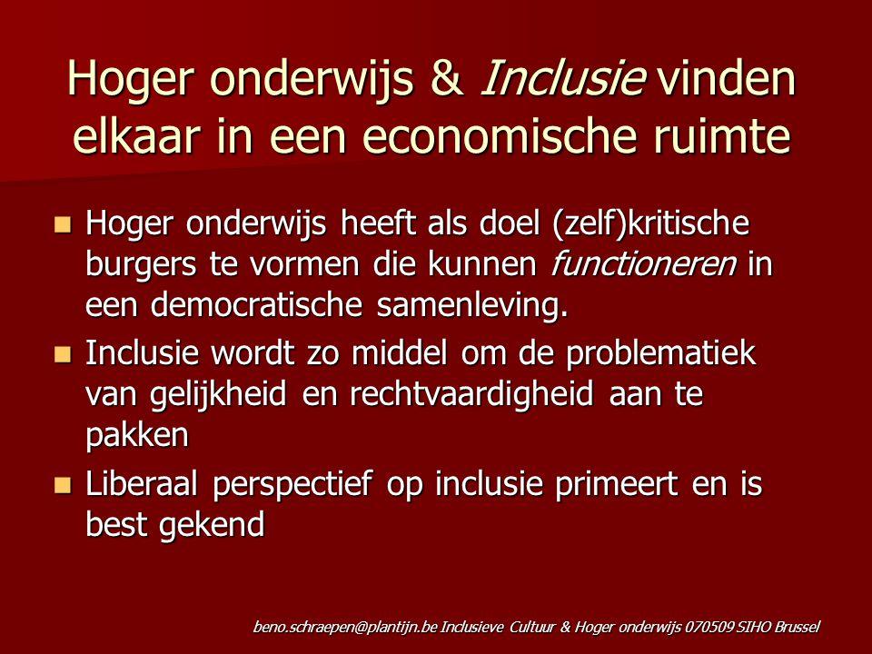 Hoger onderwijs & Inclusie vinden elkaar in een economische ruimte